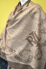 Ralph Lauren Womens Wool Brown Cape Poncho Coat Jacket One Size