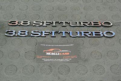 1984-87 Buick Regal Grand National 3.8 SFI Turbo Hood Emblem Black Edge 25519633