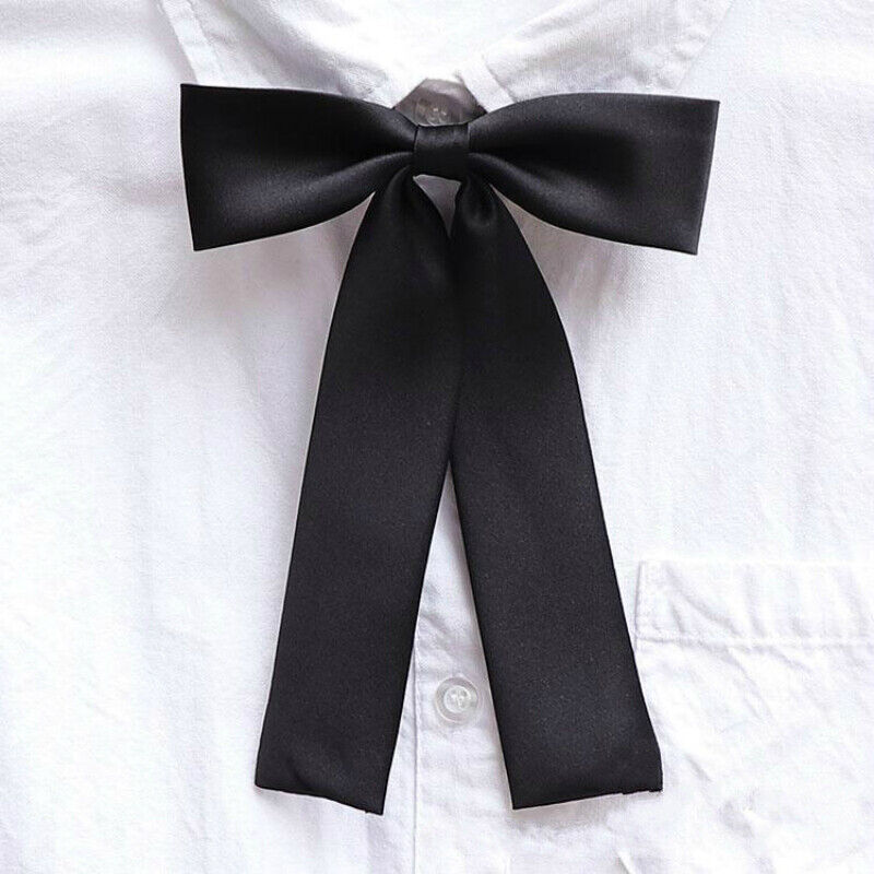 Girls Japanese JK Uniform Lolita Bow Tie Cosplay Neck Tie Ribbon Adjustable Cute