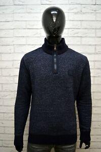 Maglione-Uomo-PAUL-amp-SHARK-Taglia-XL-Pullover-Lana-Vergine-Blu-Cardigan-Sweater
