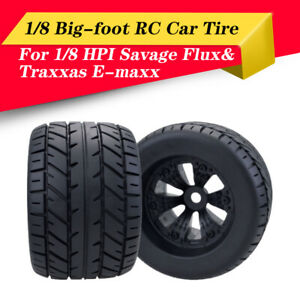 4X-165mm-Wheel-Rim-and-Tires-for-1-8-Monster-Truck-Traxxas-HSP-HPI-Racing-RC-Car