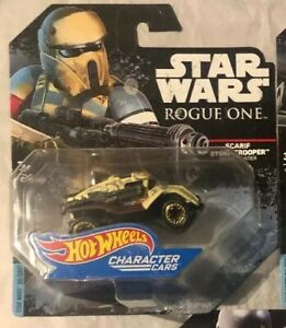 HOT WHEELS 2017 STAR WARS CHARACTER CARS ROGUE ONE SCARIF STORMTROOPER DJL61