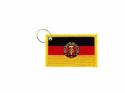 Porte cle cles clef brode patch ecusson badge drapeau allemagne de l/'est rda ddr