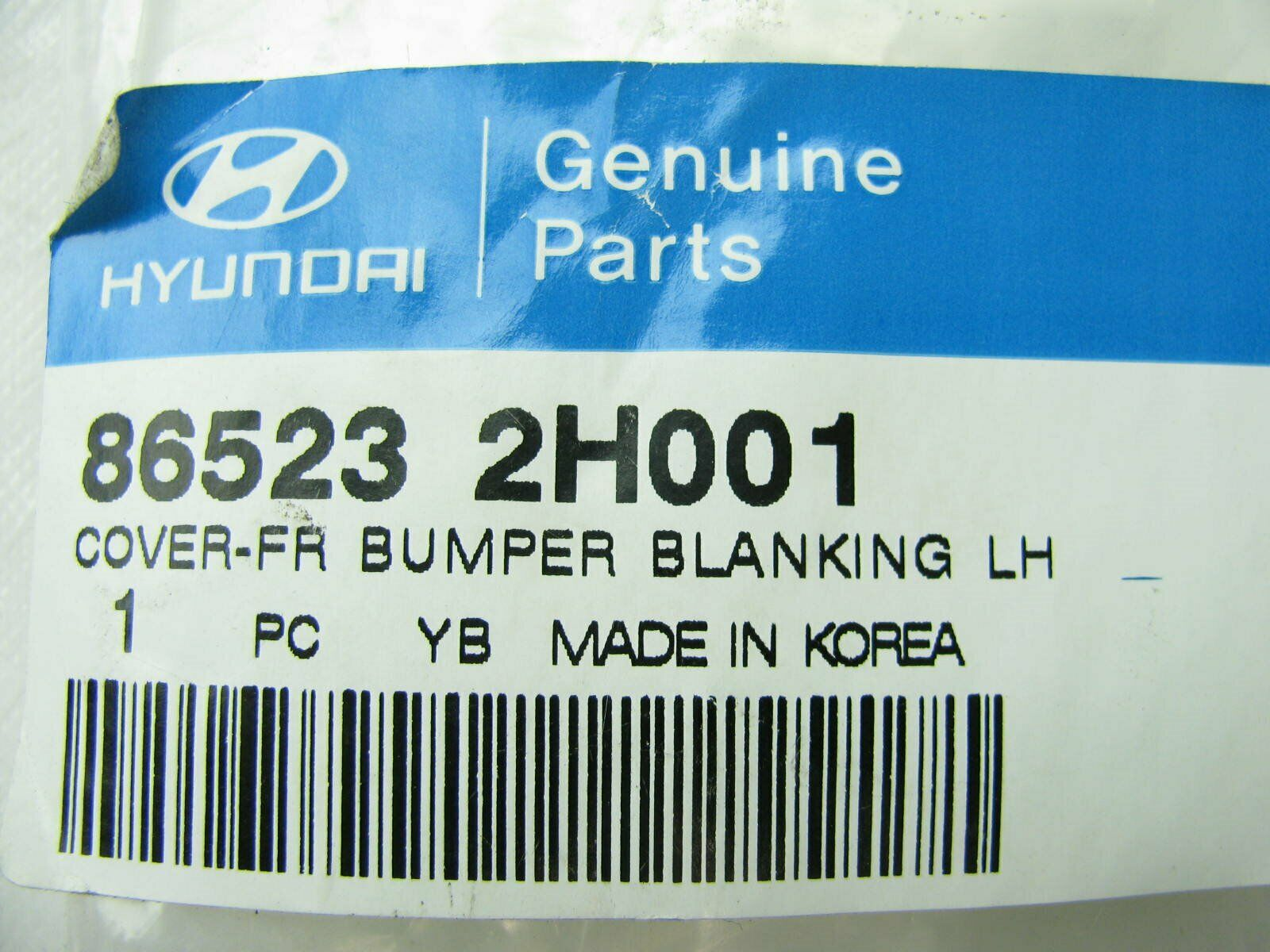 Genuine Hyundai 86523-2H000 Bumper Blanking Cover Left Front