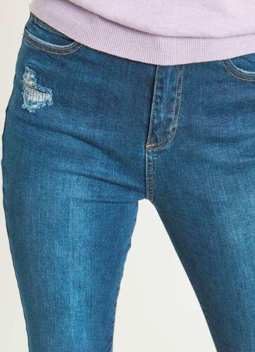 6 Mint vita Jeans 69 Long uk 'joliet' £ rrp a Womens Indigo alta Velvet Nuovo zWwrqTZfz
