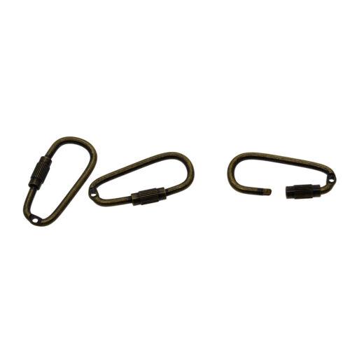 50pcs Steel Screw Lock Carabiner Hook Small Camping Sport Karabiner Tool