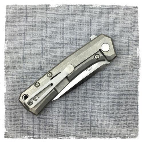 New Custom Titanium Deep Carry Pocket Clip Made for ZT0808 Zero Tolerance 0095
