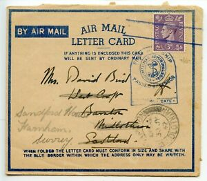 WWII-1942-AMLC-GB3d-GVI-cancelled-two-bars-in-blue-Admiralty-censor-Scotland