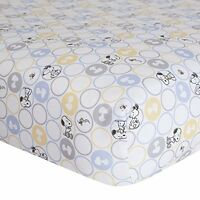 Lambs & Ivy My Little Snoopy Crib Sheet, New, Free Shipping on Sale