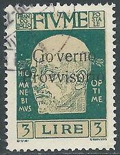 1920 FIUME USATO D'ANNUNZIO 3 LIRE - F12-2