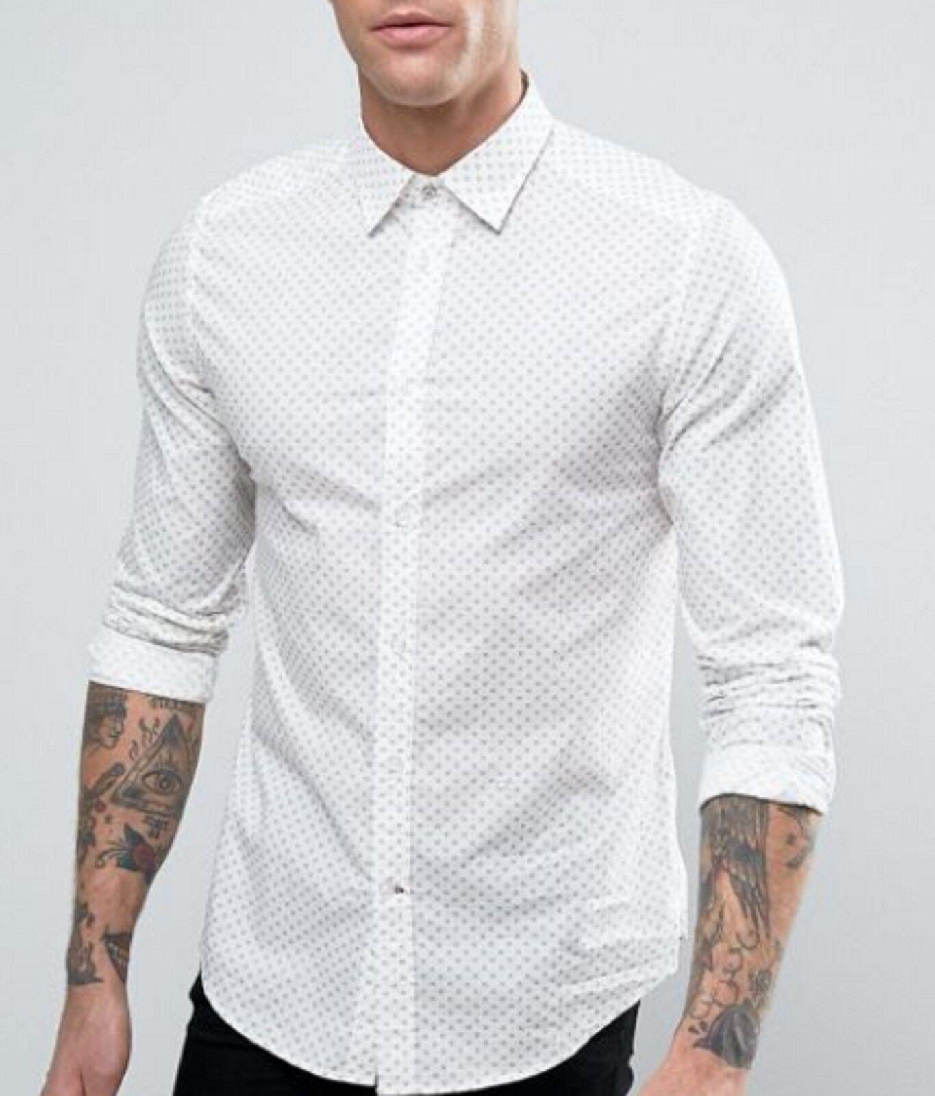 DIESEL Men's Clay Brown S-whitea Slim Fit Button Down Shirt