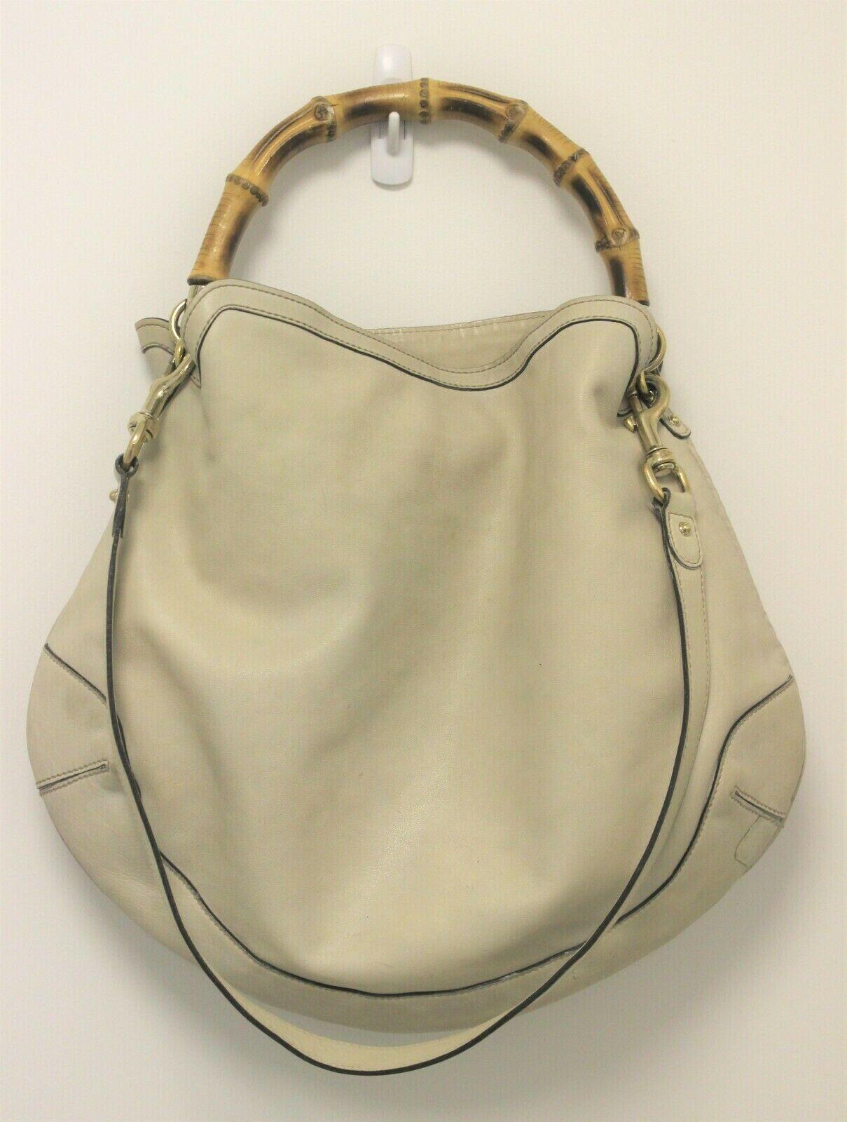 GUCCI Calfskin Peggy Bamboo Top Handle Hobo Bag -… - image 3
