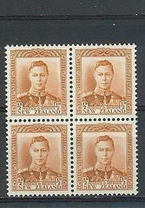 New-Zealand-1941-Sc-226B-King-George-VI-block-4-MNH