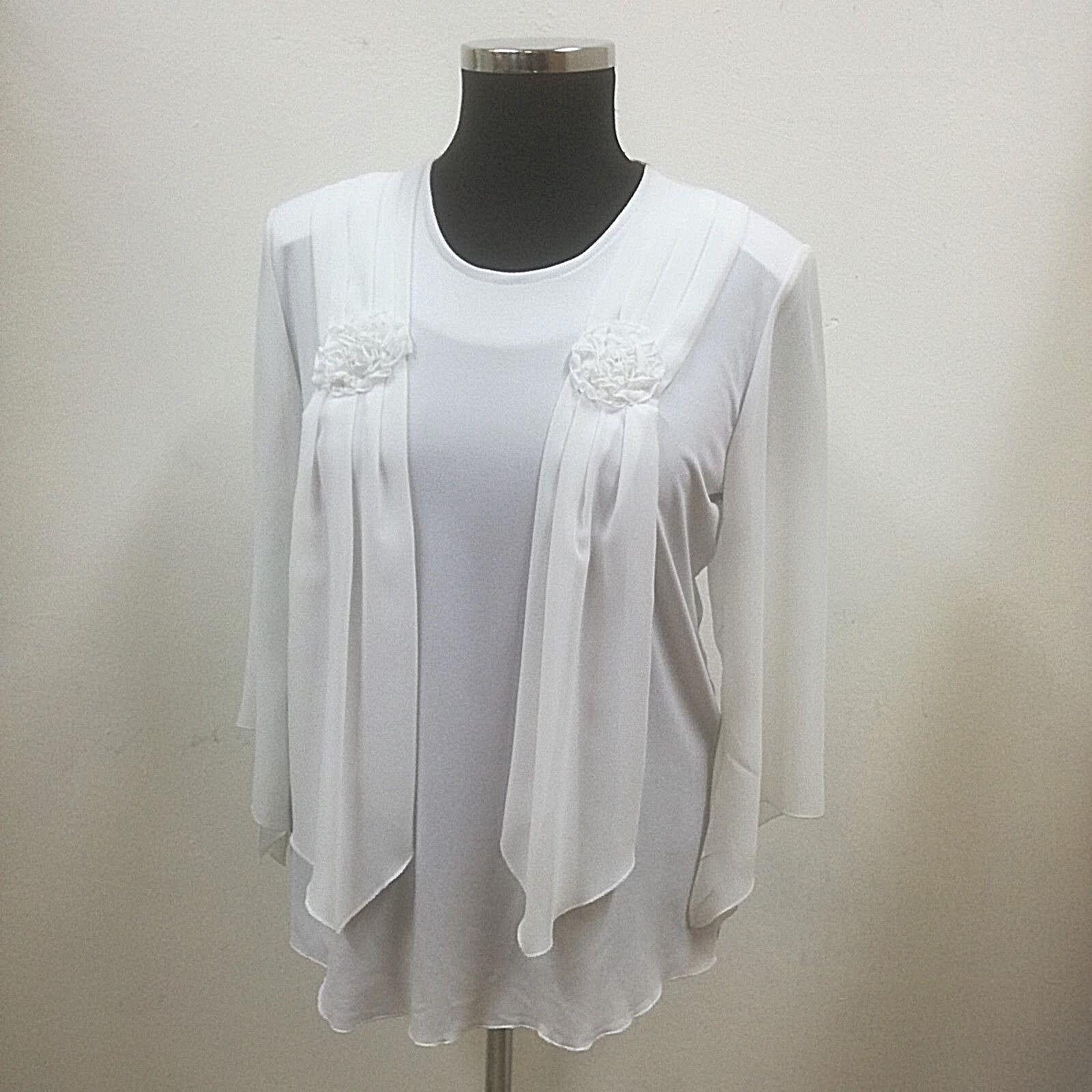 Shirt-Damen, Elizabeth exclusiv, Gr. 42, Rundh, 3 4-Trompetenä, drapierter Schal