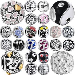 New-Women-Jewelry-Round-Charm-Bead-For-European-925-Silver-Sterling-Diy-Bracelet