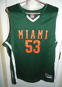 Image is loading Nike-Miami-Hurricanes-Basketball-Jersey-Sewn-Athletic-Team- a85f5a167