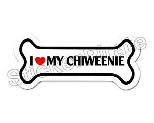 I-Love-My-Chiweenie-Dog-Bone-Bumper-Sticker-Decal-DB-180