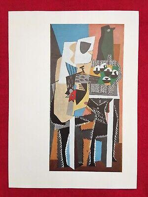 """1955 Vintage Color Plate /""""LES DEMOISELLES D/'AVIGNON/"""" PICASSO offset Lithograph"""