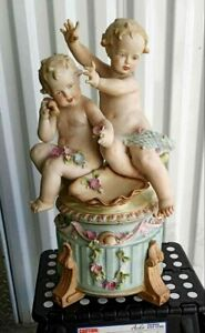 Antique-Huge-Continental-French-Bisque-Porcelain-Grouping-Cherubs-17-034-H