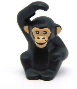 Animal Figure Black Chimpanzee NEW Loose Lego Accessory