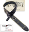 Walker  Williams SP-236 Black Italian Leather Guitar Strap with Conchos  Gold