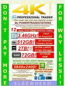DELL-Trading-Computer-6Monitor-XeonMaxTurbo3-46GHz-512GBSSD-2TBHDD-72GBRAM-W10P
