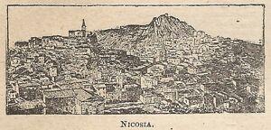 A0234-Nicosia-Veduta-Stampa-Antica-del-1907-Xilografia