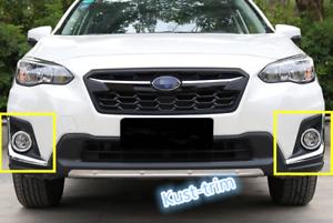 For Subaru Crosstrek XV 2018 2019 ABS Chrome Front Fog light Cover trim 4PCS