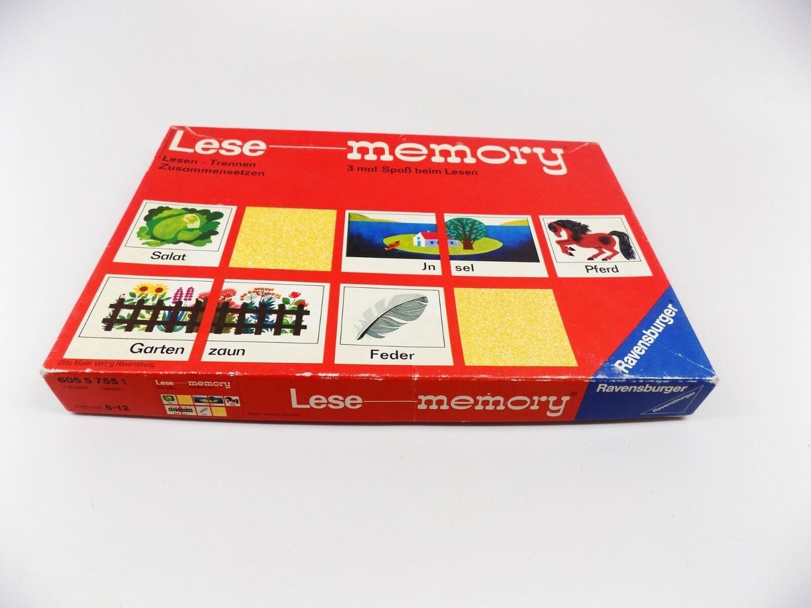 Lese - Rare Vintage German Memory Word Game (Ravensburger)