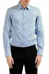 Dolce-amp-Gabbana-034-Martini-034-Men-039-s-Striped-Long-Sleeve-Dress-Shirt-US-15-IT-38