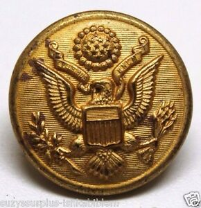 WWII-US-Army-Great-Seal-Eagle-Overcoat-Brass-Button-28mm-1-1-8-each-B4135