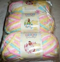 new lot of 3 skeins bernat baby blanket yarn 057355336469 pitter patter Craft Supplies
