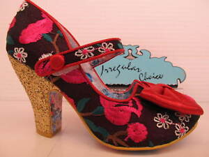 Irregular-Choice-Fancy-This-Red-Pink-Floral-Bow-Court-May-Jane-Shoe