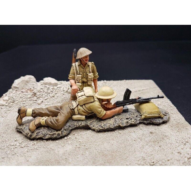 KING & COUNTRY-2 soldados de infantería Británicas,8e Ejército,África