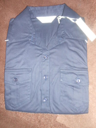 Russell  ladies 3//4 sleeve cotton twill roll shirt//blouse French Navy blue NEW