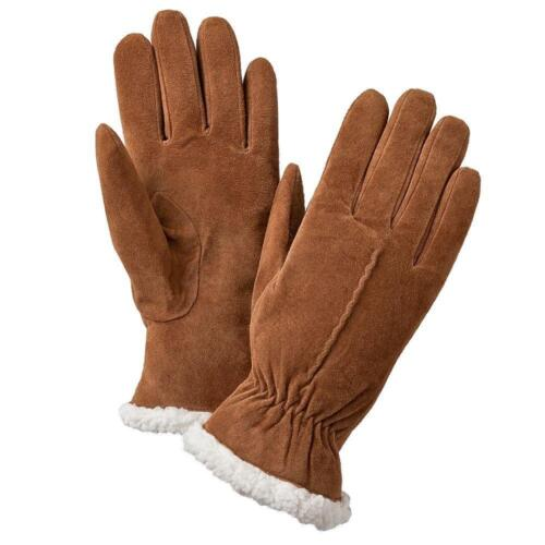 Isotoner Supersoft Suede Gloves~Sherpasoft Lining~Womens M,Lg,XL~Retail $38~NWT