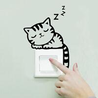 Lichtschalter-Aufkleber Wandtattoo DIY Katze Roboter Rose Kinderzimmer Wand Deko