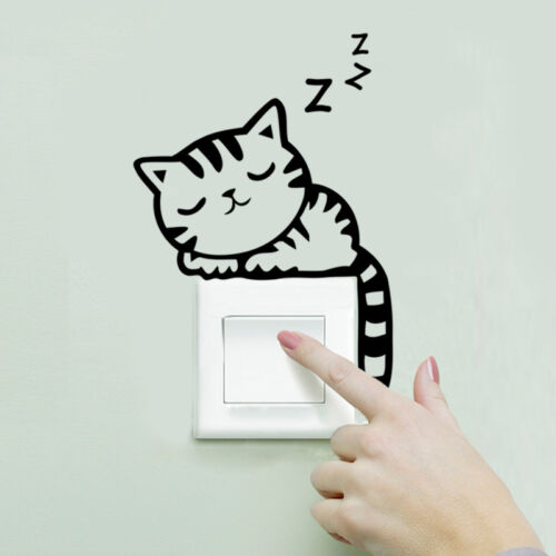 Cat Play Living Room Decor Removable Decal Vinyl Mural Art PVC Wall Sticker