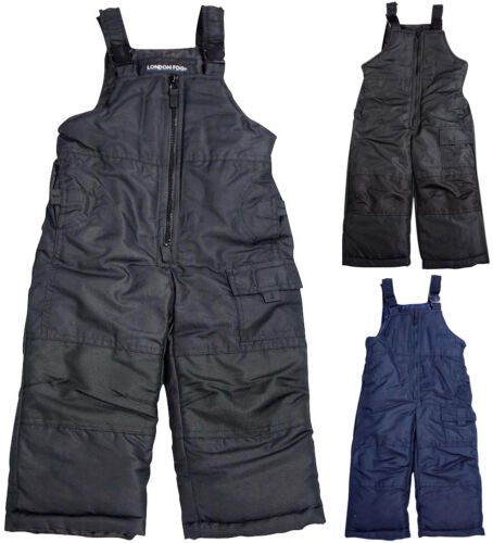 London Fog Adjustable Toddler//Boys 4-7 Snowsuit Bib Ski  Winter Pants