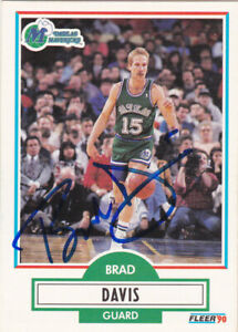 separation shoes c1959 f5908 Details about BRAD DAVIS DALLAS MAVERICKS SIGNED CARD JAZZ LOS ANGELES  LAKERS INDIANA PACERS