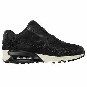Taille-12-5-Hommes-Nike-Air-Max-90-Leather-PA-pointure-705012-001-Noir-Blanc