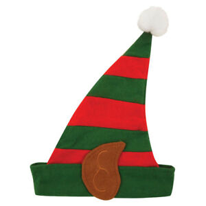 New Adult Elf Hat with Pixie Ears And Bell Christmas Santa/'s Helper Fancy Dress
