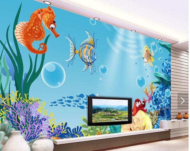 3D Cartoon Ozean Kind 63 Tapete Tapeten Mauer Foto Familie Tapete Wandgemälde DE