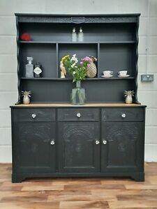 Black Painted Dresser Kitchen Cabinet