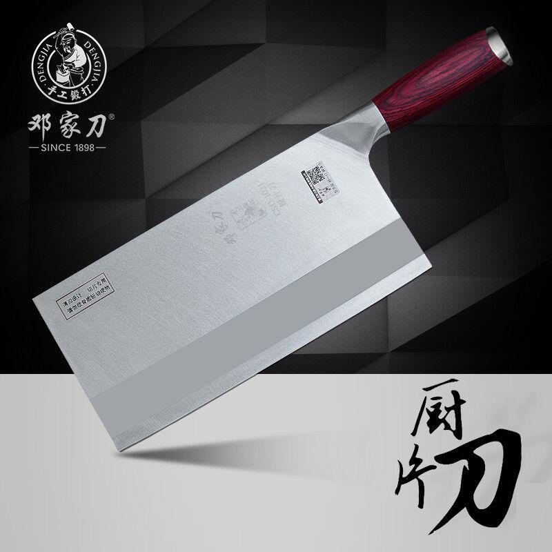 Cleaver Knife Massive Chef Forged Steel Slice Chop Bone Knives Hard 235mm Blade