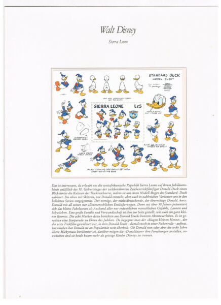 Congo Disney & Birds 8 Stamp Sheet Sv0590