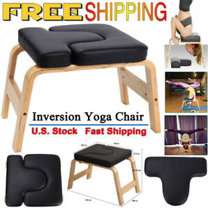 wood yoga headstand chair home gym yoga inversion trainer