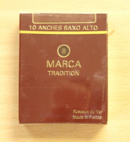 Rohrblätter Saxophon Alt Marca Tradition Ausverkauf Packung 10 Anches
