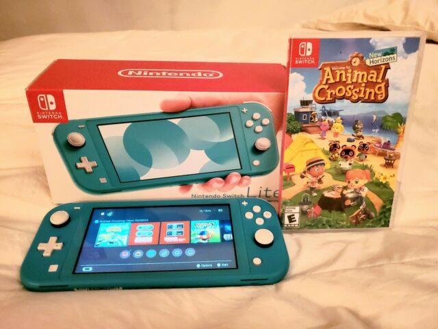 Nintendo Switch Lite Console - Turquoise with Animal ...