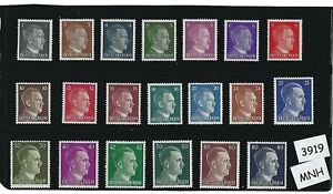 MNH-stamp-set-20-Adolph-Hitler-stamps-Third-Reich-WWII-Germany-1941-1944